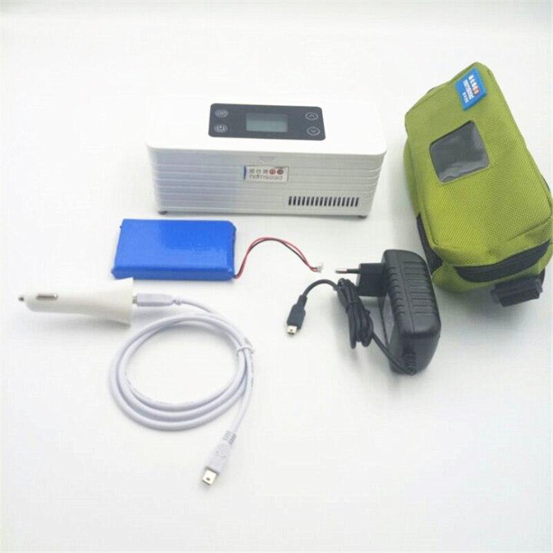 Insulino Portebla Cooler Battery Powered Diabetics Medi Thermoelectric Refrigerator Voyage Medicated Fridge With LCD Display