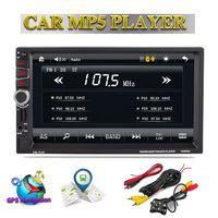 7 2 Din Car Radio GPS Navigation Audio Stereo Bluetooth USB FM Autoradio Vehicle Multimedia MP5 Player Mirror Link Rear Camera