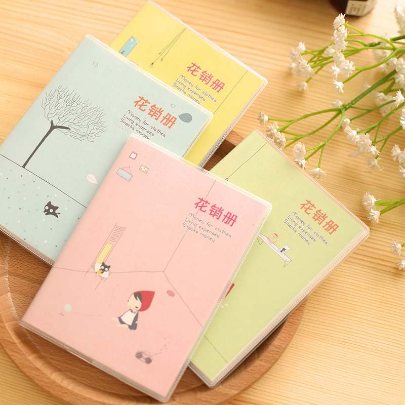 1 x cute little girl notebook diary cash book notepad kawaii