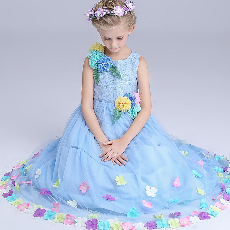 5p460 Baby Girls Dress 2017 New tutu dresses flower dresses fashion wholesale baby boutique clothing битоков арт блок p 460