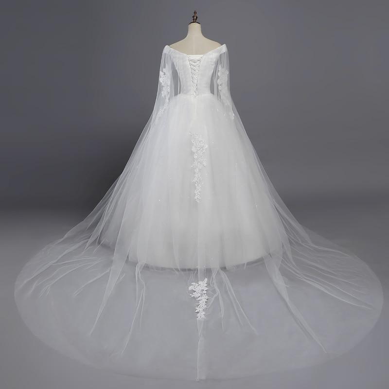 Fansmile Real Photo Cheap Vintage Lace Ball Wedding Dresses 2019 Vestido De Novia Customized Plus Size Bridal Gowns FSM-369F