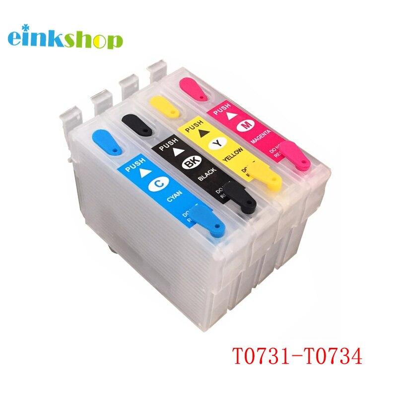 Einkshop 73N T0731-T0734 Cartucho de Tinta Recarregáveis Para Epson Stylus CX7300 CX8300 TX210 CX3900 CX4900 CX5600 CX5900 CX7310
