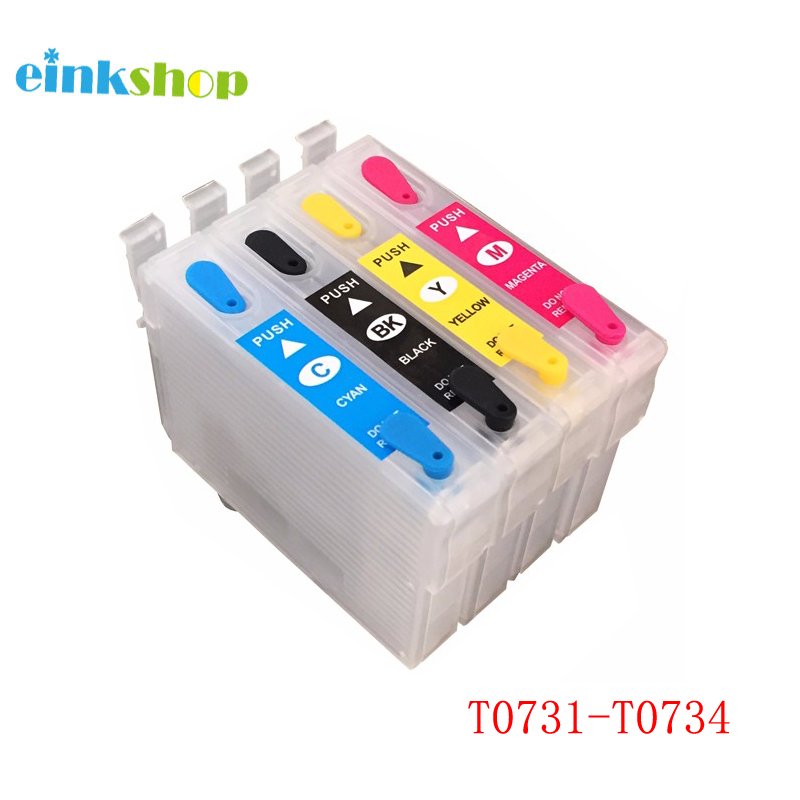 t0734 - 73N T0731-T0734 Refillable Ink Cartridge For Epson Stylus CX7300 CX8300 TX210 CX3900 CX4900 CX5600 CX5900 CX7310 for epson T0731