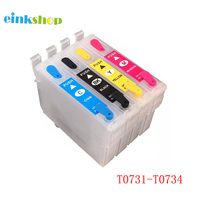 einkshop 73N T0731   T0734 Refillable Ink Cartridge For Epson Stylus CX7300 CX8300 TX210 CX3900 CX4900 CX5600 CX5900 CX7310|ink cartridge|refillable ink cartridges|ink cartridge for epson -