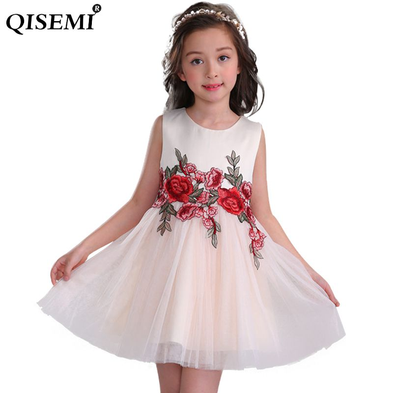 2018 New Spring Lace   Flower     Girl     Dresses   Appliques Kids Prom Wedding   Dress   Ball Gown Pearls   Girl   Pageant   Dress   Vestidos
