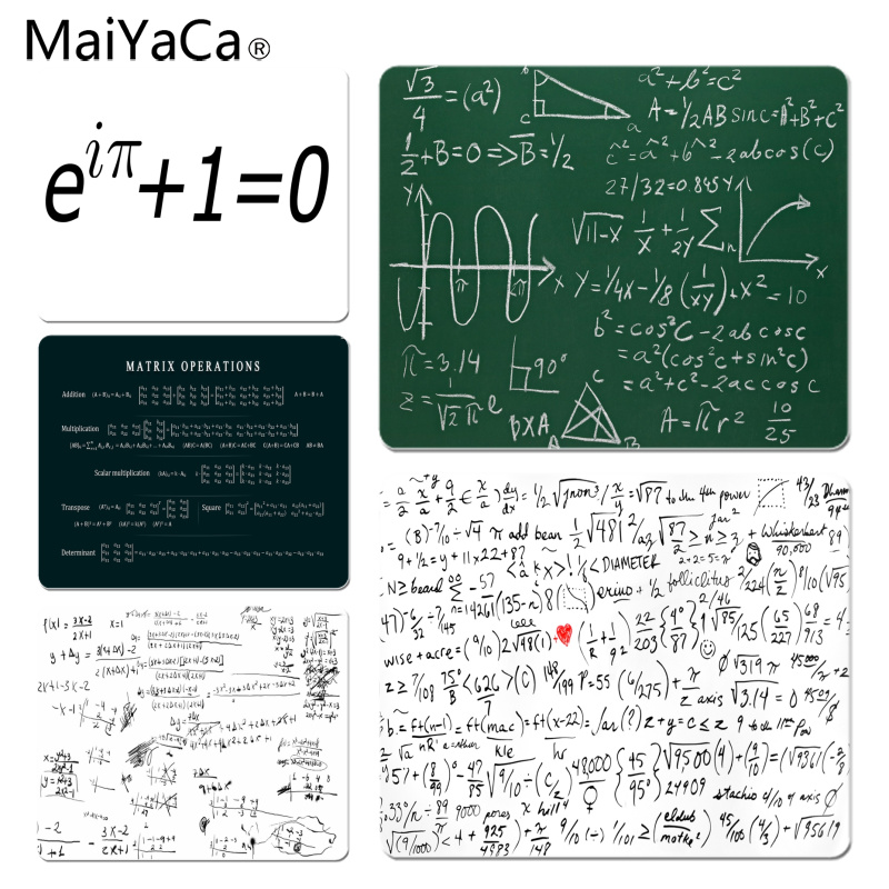 MaiYaCa Personalized Cool Fashion Mathematical Equations mouse pad gamer play mats Size for 180x220x2mm and 250x290x2mm Mousepad