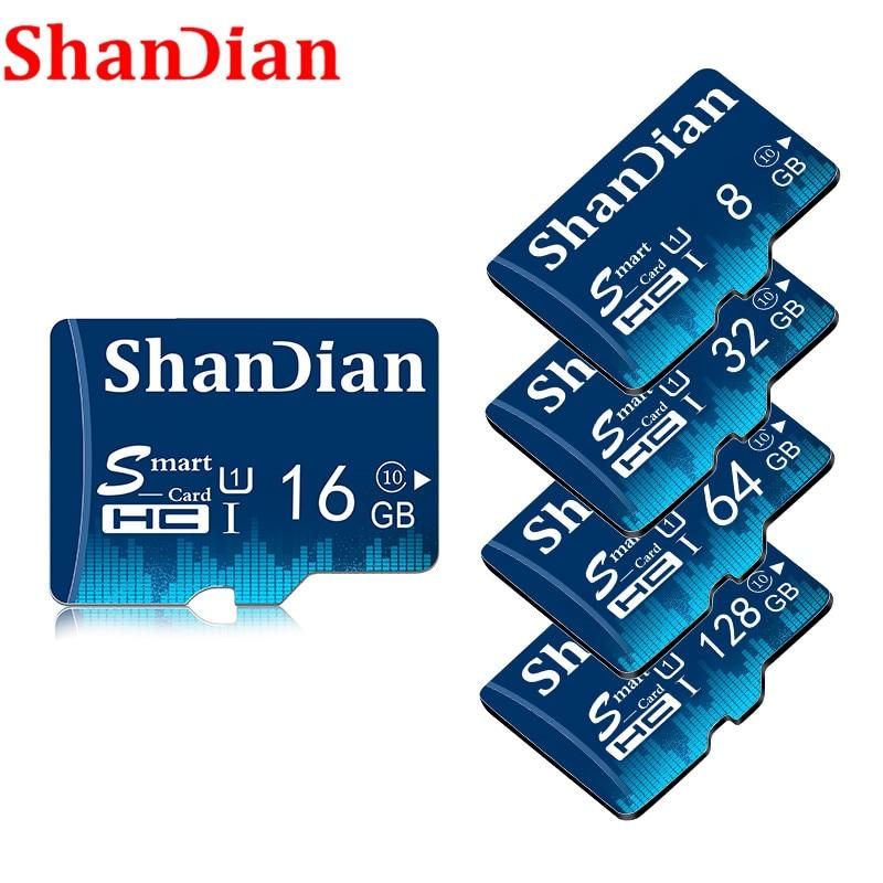 SHANDIAN Quente venda 8 32gb micro sd Cartão de memória gb 16 gb gb gb 128 gb CLASS10 64 32 cartao de memoria micro sd card Cartão de memória flash Pendrive