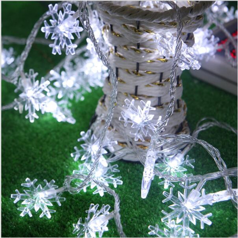 80 LED 10M Snowflakes String Light Party Home Christmas Wedding Garden Ornament Hanging Outdoor Lights