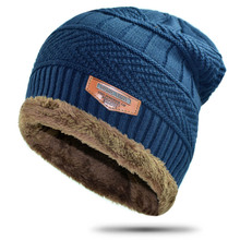 New Men's knitted black ski hats winter Fall hat fashion Thick warm hat cap Bonnet Skullies Beanie Soft Knitted Beanies Cotton fashion ladies fall winter m standard casual cap thick tweed curved along the hat street to shoot hats wholesale sport hat