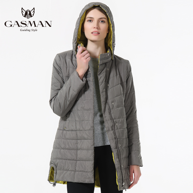 GASMAN 2019 New Spring Women Jacket Thin Fashion Casual Windproof Coat Medium Length Female Hooded   Parka   Brand Jacket For Women