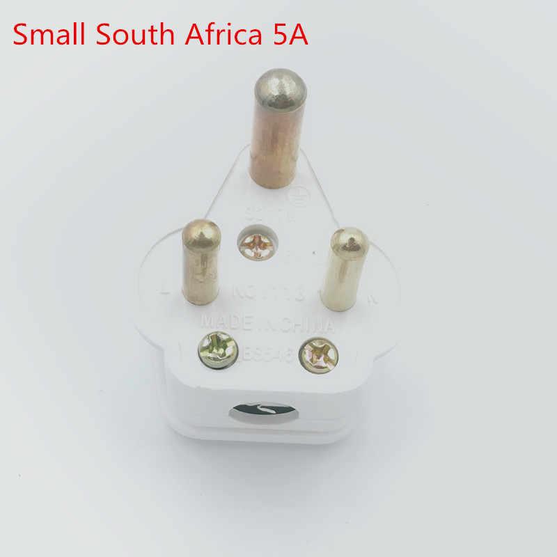 Nam Phi Lớn Vòng 3 Pins AC Điện Power Nam Cắm Rewireable Ổ Cắm Ổ Cắm Adaptor Adapter Mở Rộng Dây Nối