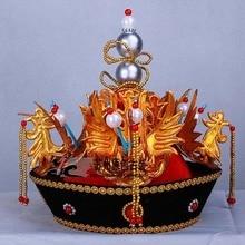 Qing Dynasty Empress Hair Tiara Stage Show Coronet  gorgeous queen cap coronet for Women