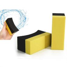 5pcs Car Cox Professional Tyre Tire Dressing Applicator Curved Foam Sponge Pad Drop Shipping