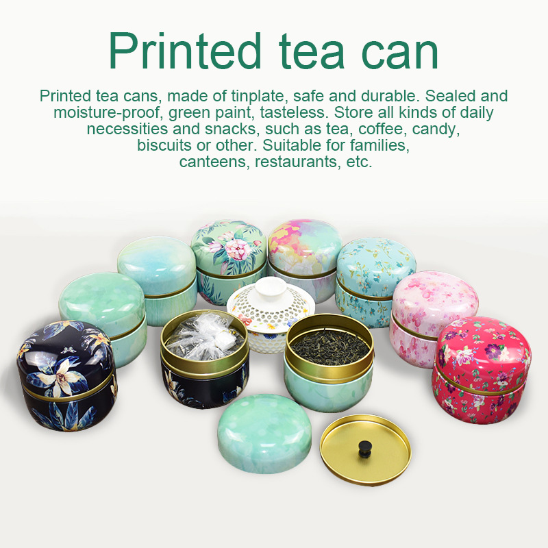 Multifunction Chinese Style Tea Caddies Round Metal Tea Box Jar with Lid #3|Tea Caddies| |  -