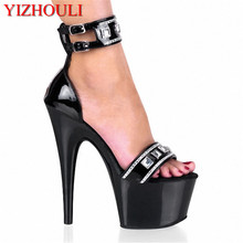 17 cm moda Gorgeous glitter zapatos para mujeres 7 pulgadas plataforma sexy  clubbing Exotic Dancer tacones altos punk sandalias a73dd75ba2d7