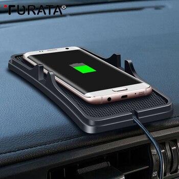 Turata coche cargador inalámbrico X 8 para Iphone 7 Plus Universal rápido cargador para Samsung Galaxy S9/ s8 Plus Huawei LG