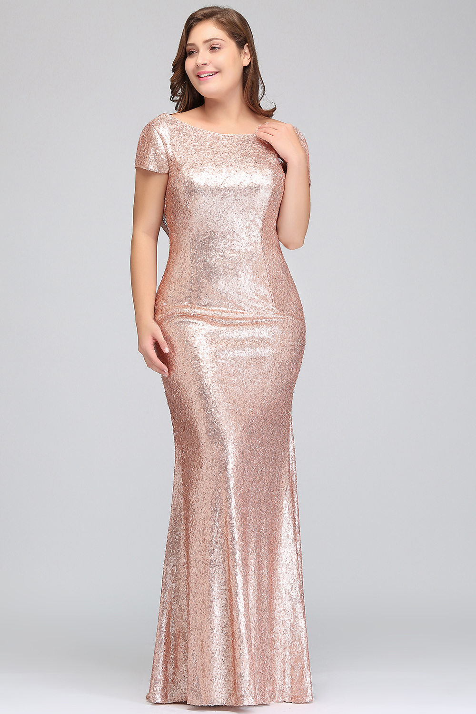 Plus size Evening Dress Long Sparkling 2018 New Women Elegant Sequin ...