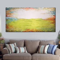 Hand Painted Modern Abstract Landscape Oil Paintings For Bedroom Decorative Unframed Home Decor Artwork Scene Picture 24x48 Inch