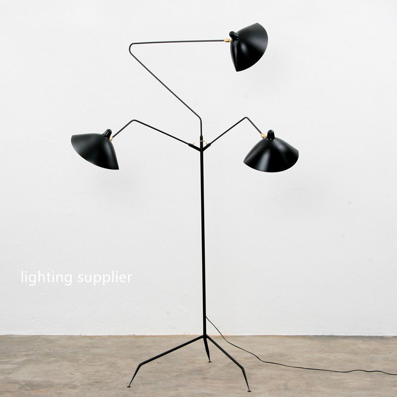 modern designer serge mouille floor lamp black lambader for living bedroom room floor light e14 220v cheap floor lighting
