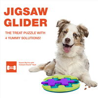 Pet Jigsaw Glider Game Puppy Cat Puzzle Interactive Food Leakage IQ Training Toy Dog Fun Snack Food Feeder Toys