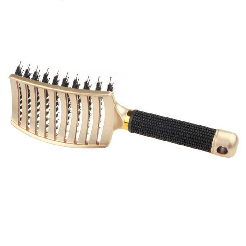 Горячее предложение! Щетка для помазок-изогнутая и вентилируемая щетка для распутывания волос для женщин длинная, толстая, тонкая кудрявая щетка для волос подарочный набор, 1