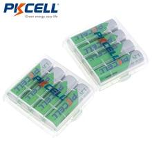 8 х PKCELL низкий саморазряд прочный Ni-MH 1,2 V 2200mAh Аккумулятор AA перезаряжаемый аккумулятор с 2 шт батарейный чехол