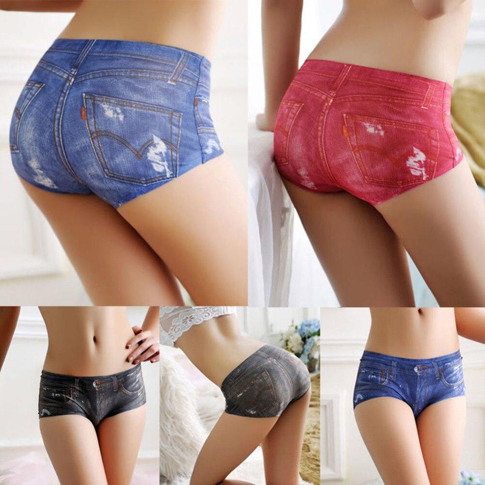 Blue jean underwear