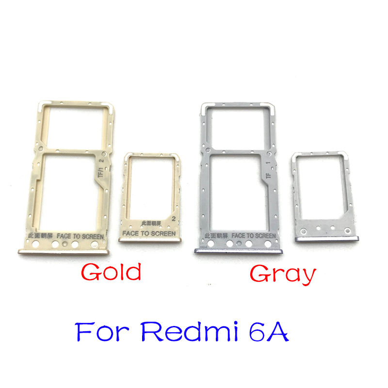 New SIM Card Reader Holder Slot Tray For Xiaomi Redmi 6 6A Replacement Parts