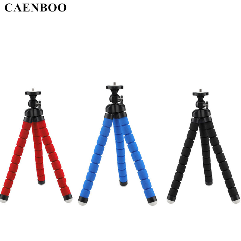 CAENBOO Middle Flexible Tripod Max 2KG Digital Camera Octopus Monopod Portable Mount Tripod For Canon Nikon Sony DSRL Stand