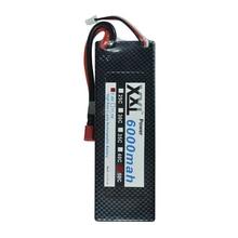 2pcs XXL Hard Case 2s 6000mAh 7.4V 50C max 100C Car Lipo Battery  for 1/10 RC Traxxas Car quadcopter