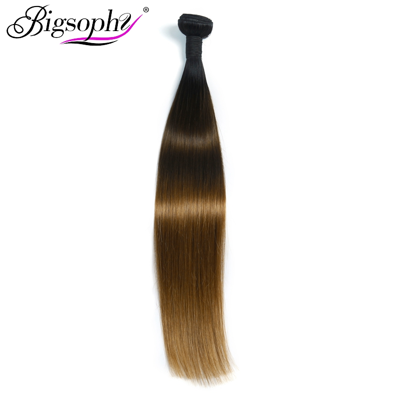 Bigsophy Hair Products Peruvian Straight Weave Bundles Ombre Straight Color 1B 4 27 10 to28 Inches