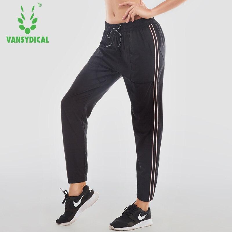 VANSYDICAL Women Yoga Pants Breathable Yoga Fitness Pants Women Running Pants Sports Training Trousers Mallas Mujer Deportivas bubblelime geometric prints women yoga capri pants running cropped trousers