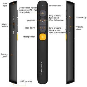Image 2 - Presentador inalámbrico N29 de Knorvay, presentación de Powerpoint RF 2,4 GHz, mando a distancia PPT, bolígrafo láser de presentación