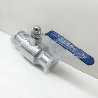 2 DN50 Sanitary Ball Valve with clamped ends,SS 304, ball valve stainless,stainless steel ball valve ,sanitary ball valve,