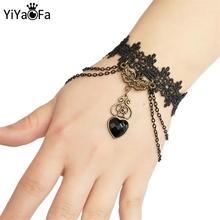 YiYaoFa Simple Lace Bracelet Gothic Jewelry for Women Accessories Charm Bracelets Girl Night Club Party LB-99