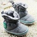 Inverno Menino Quente Sapatos de bebê Recém-nascido Sola Macia Botas de Neve de Algodão de Inverno Crianças Primeiro Walkers Crianças Sneakers Sapatos Sólidos