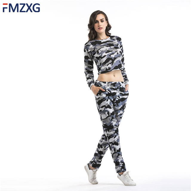 52e3e206052 Navy Blue Camouflage Pants Outfit Camo Pant Set Crop top Camis Strap Two 2  piece set