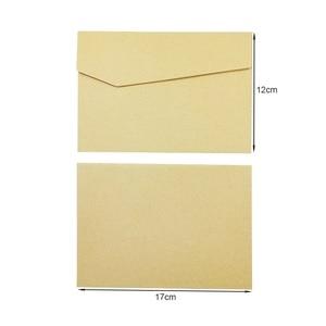 Image 4 - 100Pcs/lot  Vintage Kraft Paper Envelopes  Europen Style  Envelope Message Card Letter Stationary Storage Paper Gift 170*120mm