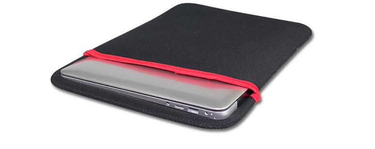 Soft protector universal 8 inch ebook sleeve tablet pc MID bag case, Black&Red color pouch, Free Shipping free shipping mimco classico mid pouch claret color