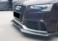Углеродного волокна передняя губа разветвители бампер фартуки чашки клапанами спойлер для AUDI A5 S5 RS5 2012 2013 2014 2015 2016 2 двери/4 двери