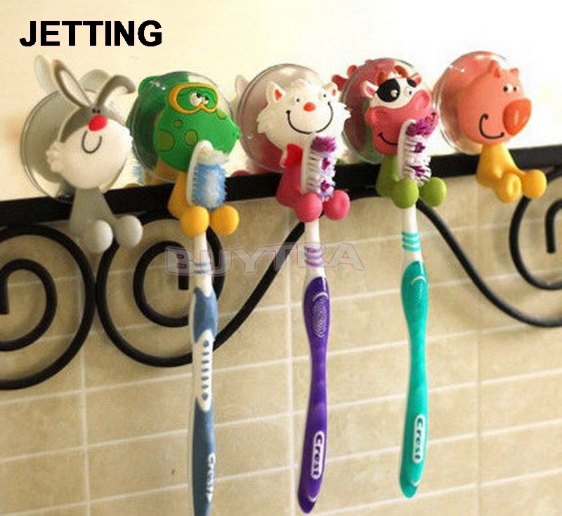 Lovely Household Animal Type Toothbrush Holder Mini Toothbrush Holder Bathroom Product Sanitary Ware Accessories
