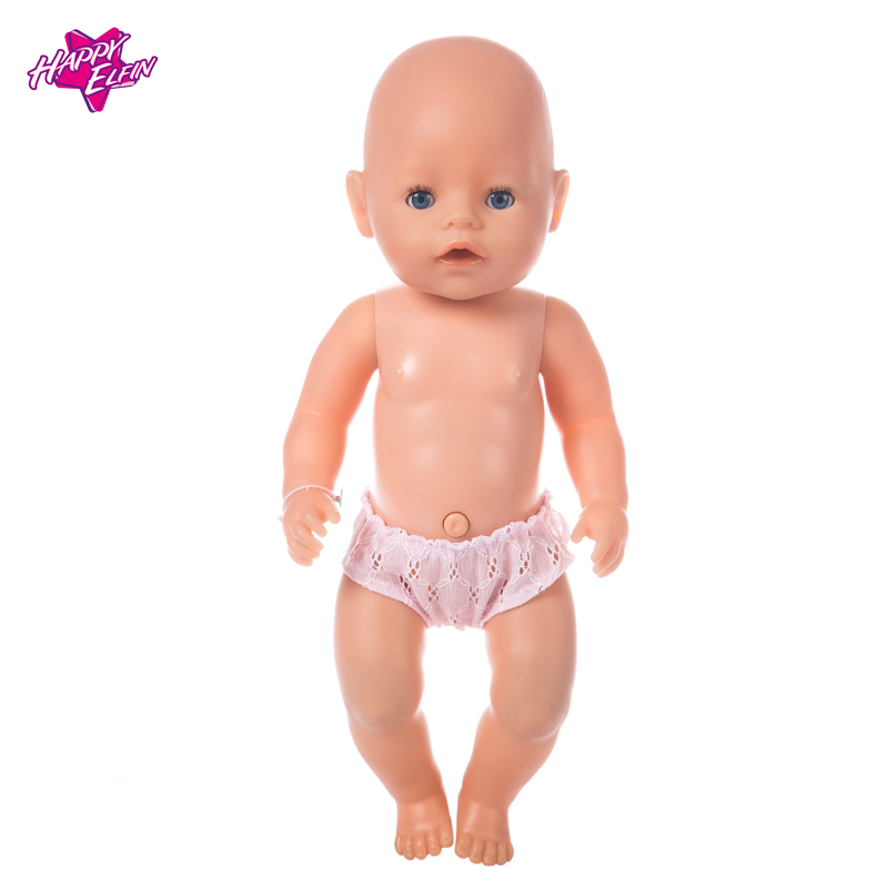 Doll accessories 2color Pink Underpants Baby Born Zapf Doll Wear 18in American Girl Doll Clothes Children best Birthday Gift 2color choose leisure dress doll clothes wear fit 43cm baby born zapf children best birthday gift only sell clothes