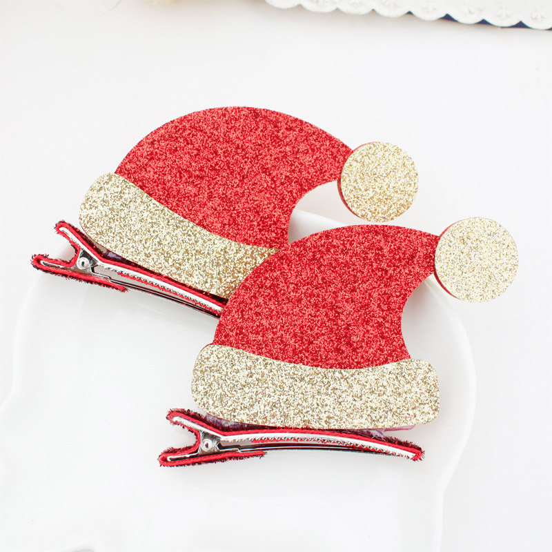Hot Sale Children Cute Christmas Xmas Deer Boots Caps Decorate Hairpins Multi-Type Girls Popular Hair Clip