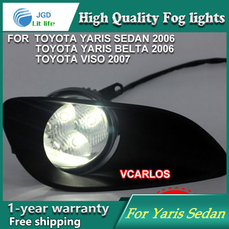 2PCS / Pair Halogen Fog Light For Toyota Vios 2007 High Power Halogen Fog Lamp Auto DRL Lighting Led Headlamp 2pcs pair led fog light for toyota corolla axio 2007 high power led fog lamp auto drl lighting led headlamp
