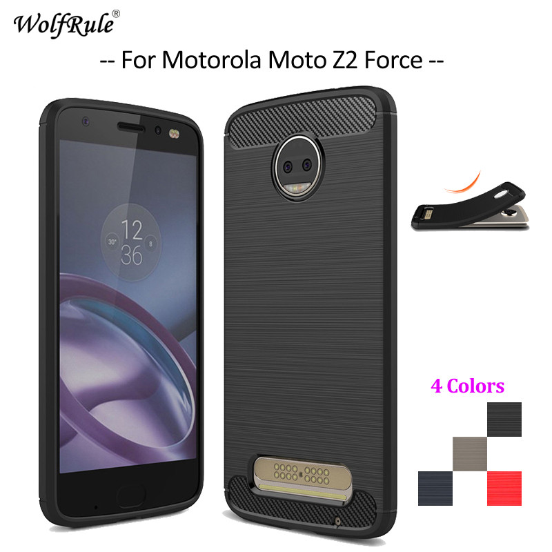 WolfRule For Cover Motorola Moto Z2 Force Case Shockproof Soft TPU Mobile Phone Case For Motorola Moto Z2 Force Cover 5.5''