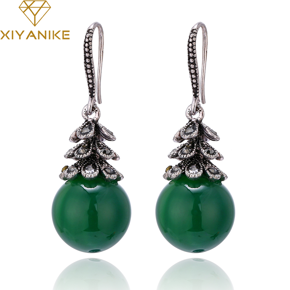 XIYANIKE New Arrival 2017 Hot Sale Fashion Retro Two-color Imitation Pearls Earrings For Women Jewelry Boucle Doreille E742