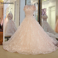 LS32789 Women Long Evening Dresses Lace Sexy Backless Beaded Tulle Ball Gown Long Prom Formal Dress