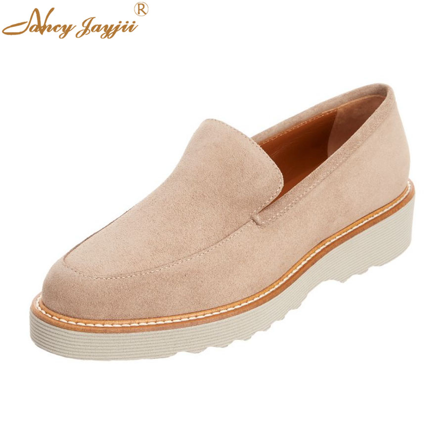 Women Ladies Flats Adult Female Shoes Flock Slip On Round -5896