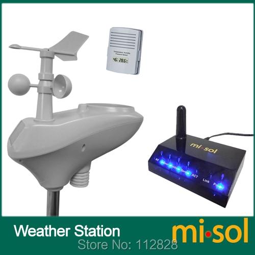 MISOL / IP OBSERVER Stazione meteorologica di monitoraggio remoto wireless a Internet ad energia solare