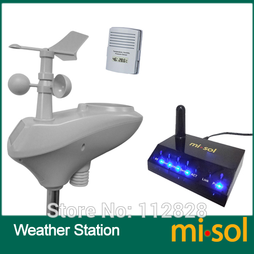 MISOL / IP OBSERVER太陽電池式ワイヤレスインターネットリモートモニタリングウェザーステーション